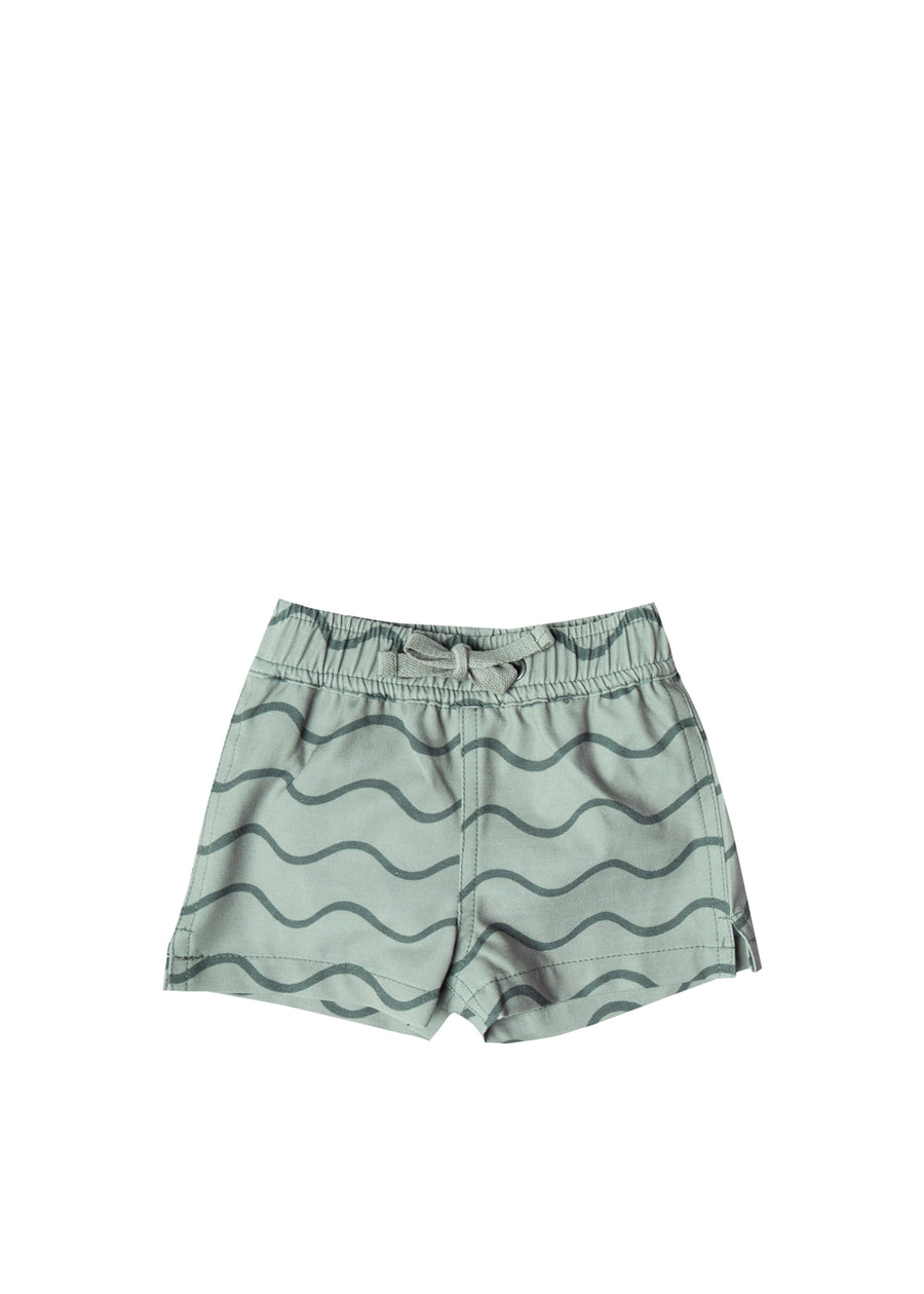 Seafoam Rolling Waves Swim Short