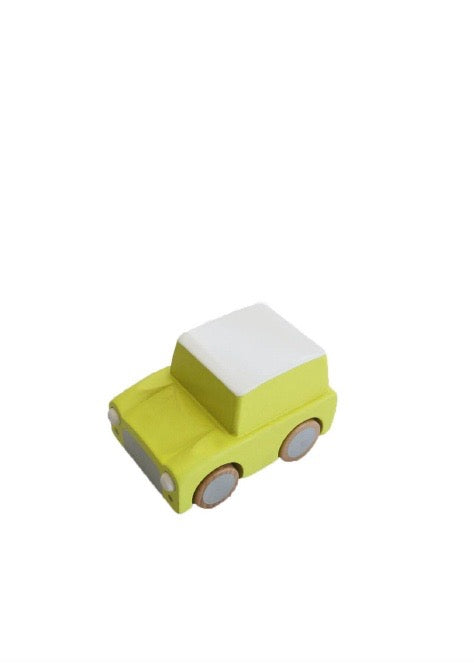 Yellow Kuruma Wooden Car