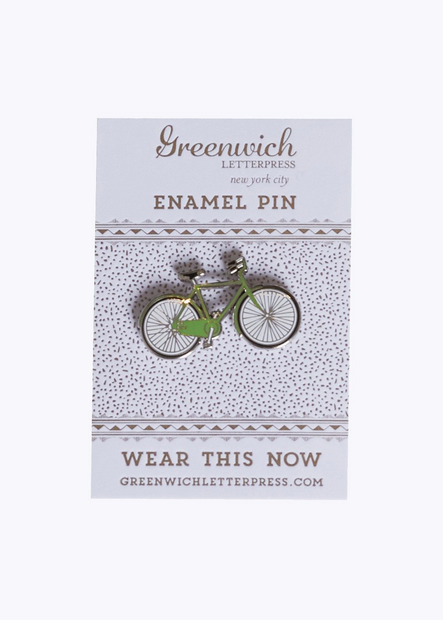 Green Bicycle Enamel Pin