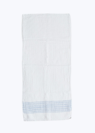 Blue/Ivory Organic Cotton Hand Towel