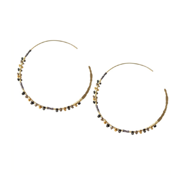 Black Katia Hoop Earring