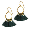 Green Juliet Tassel Earring