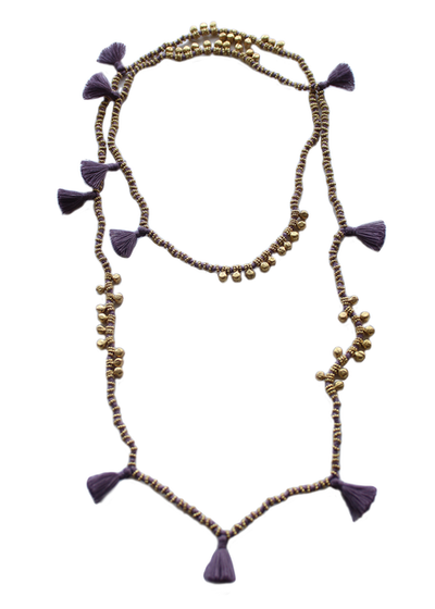 Lilac Farah Necklace by Bluma Project