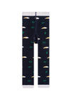 Kids Navy Mini Fish & Seaweed Legging