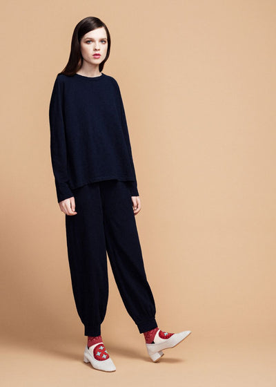 Indigo Cotton Louise Pant