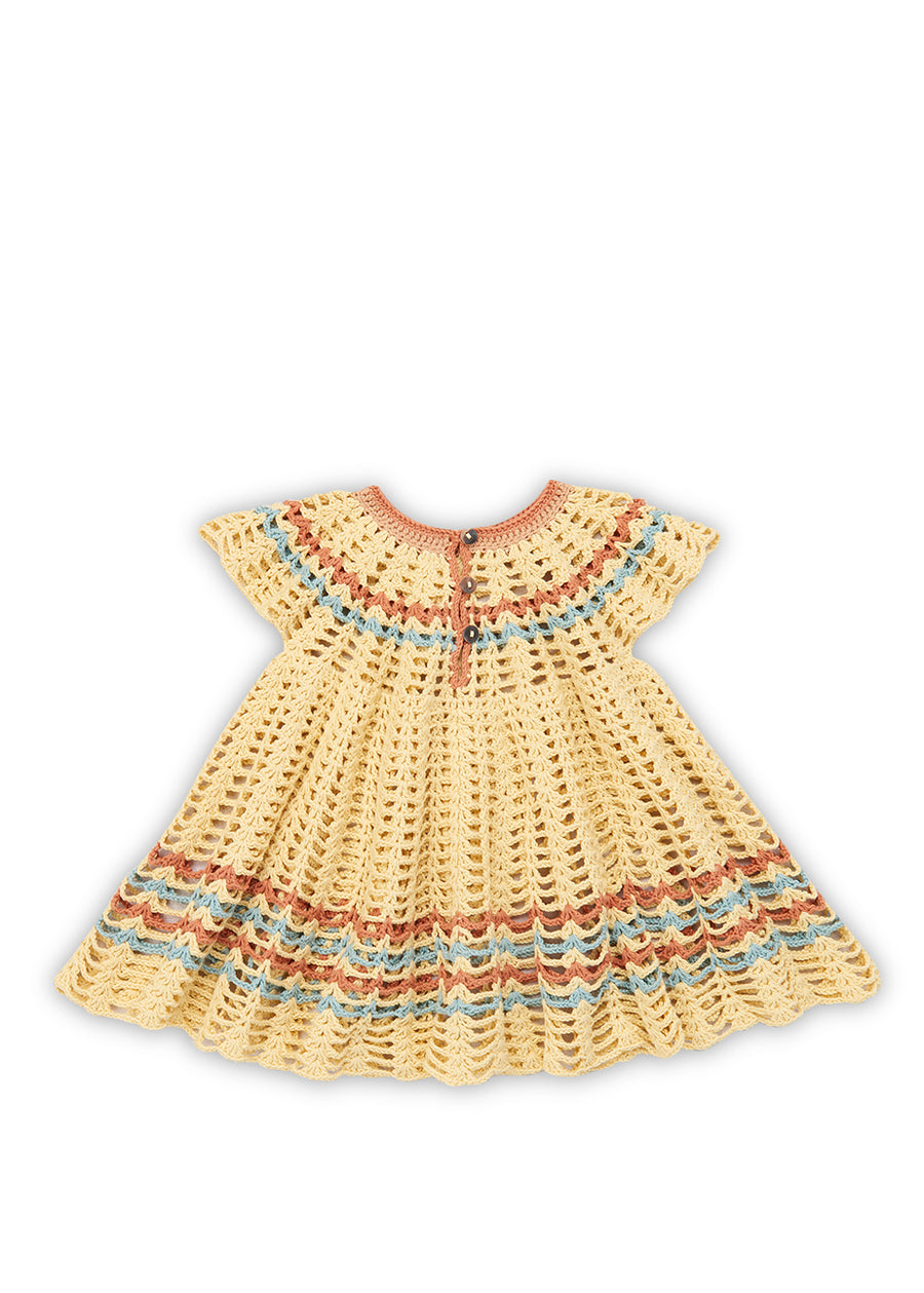 Girls Buttercream Lillian Swing Dress