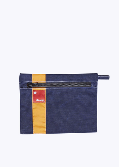 Navy Waxed Canvas Hold-all