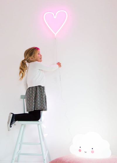 Pink Neon Heart Light