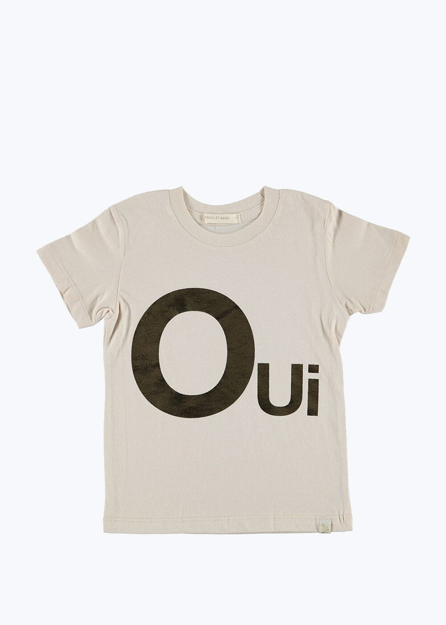 Natural Kids Oui Crew Tee- 6Y
