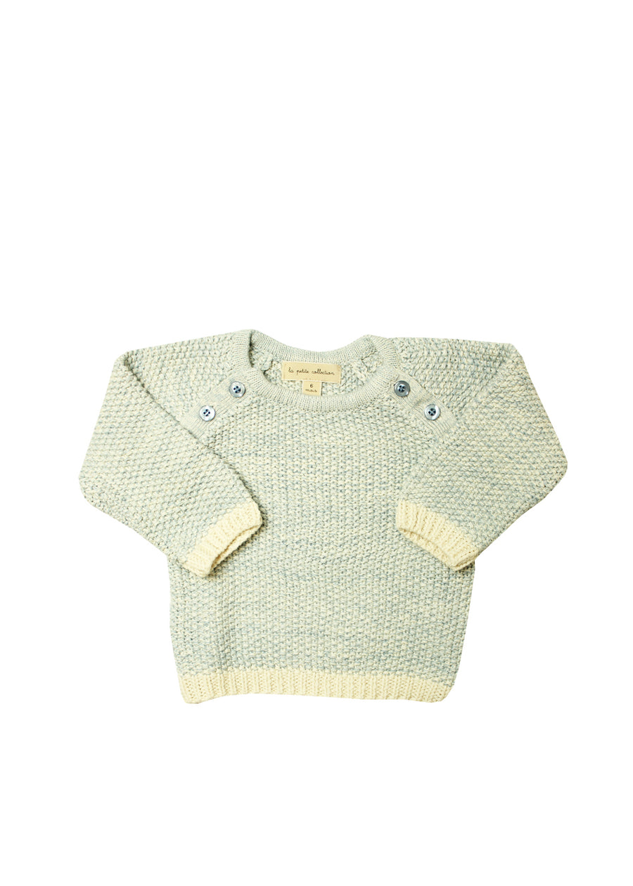 Skyblue Buttoned Sweater