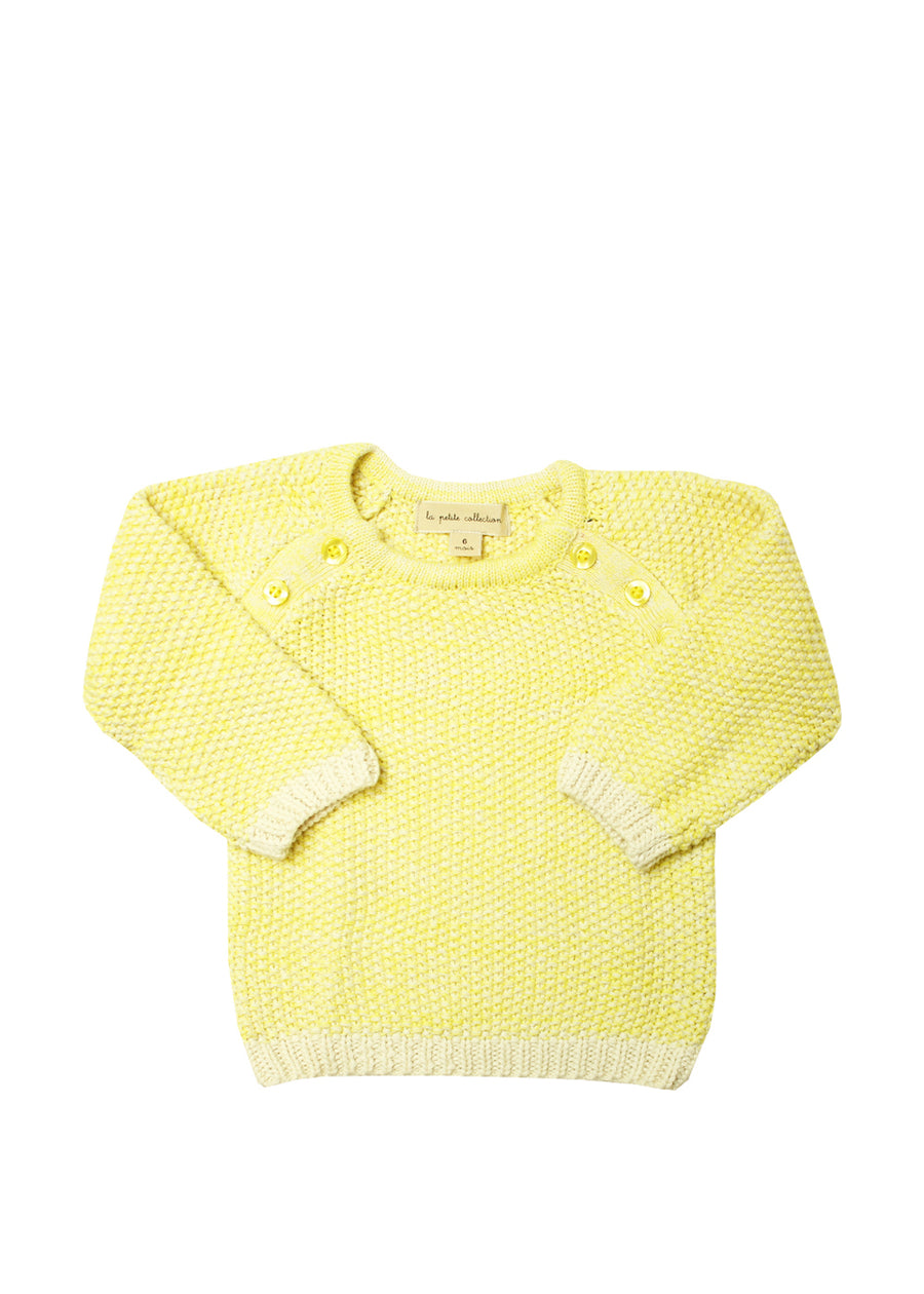 Yellow Buttoned Sweater