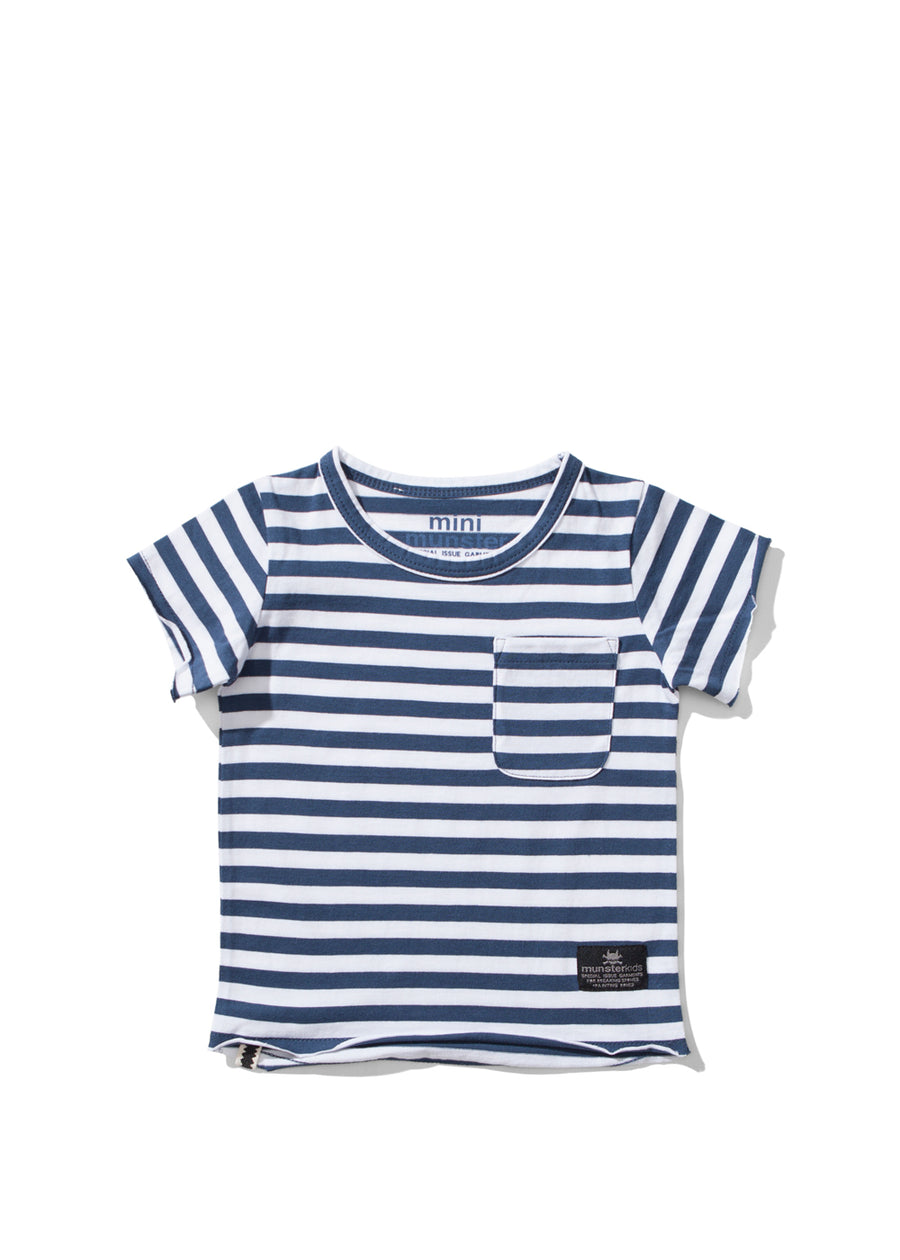Baby Navy Striped Siked Tee