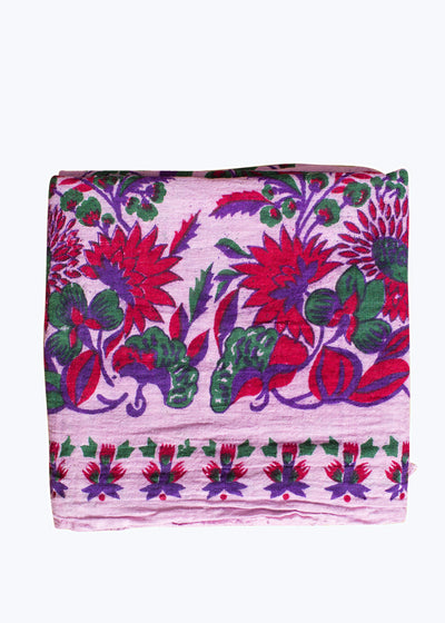 Red/Green/Purple Pink Floral Tablecloth