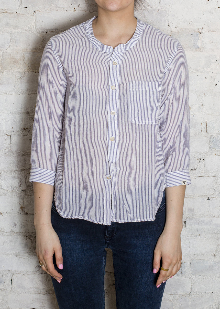 Blue Fremont Pinstripe Amish Shirt