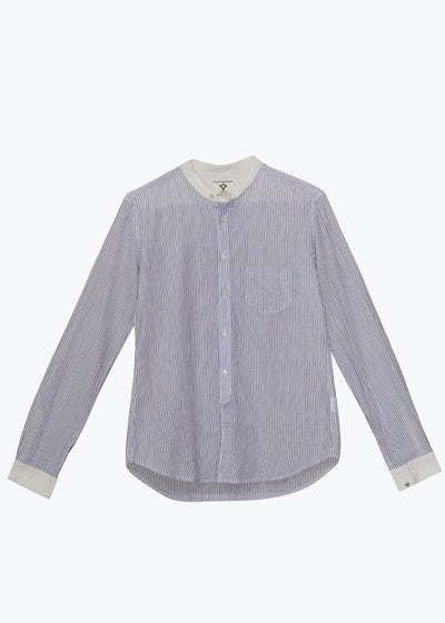 Blue Fremont Pinstripe Power Shirt