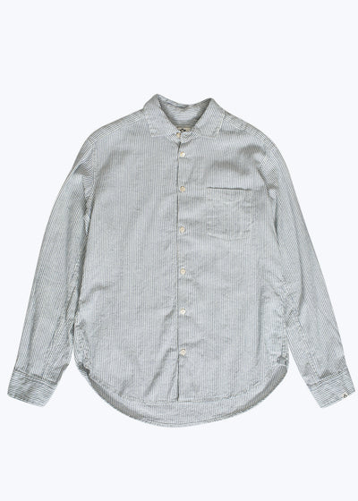 Natural/Indigo Simple Papua Stripe Shirt