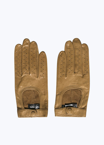 Tan Leather Camille Gloves-8