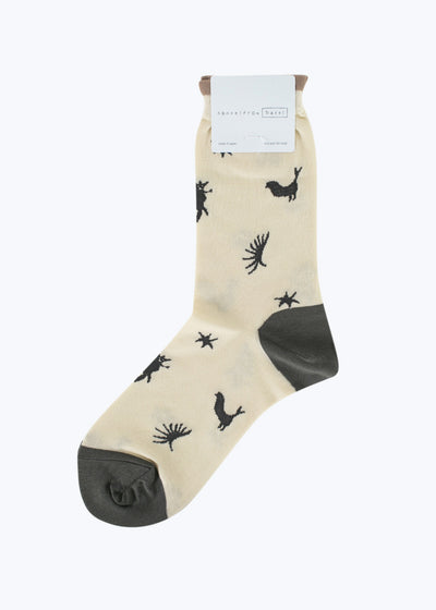 Ivory Shadow Crew Sock