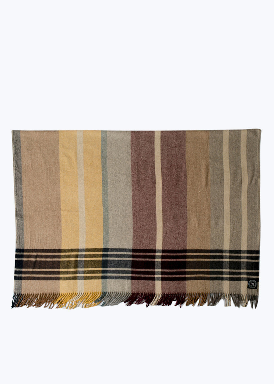 Earth 2 Checked Wool Throw