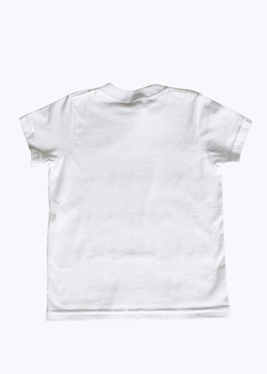 Kids White Spouting Whales Tee (6Y- Last One)