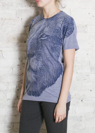 Gray Big Lion Unisex Tee