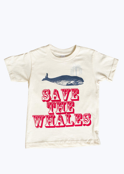 Kids Natural Save The Whales Tee