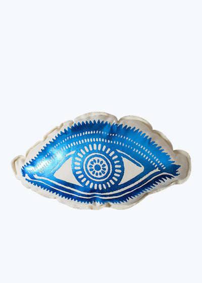 Big Eye Blue Foil Pillow