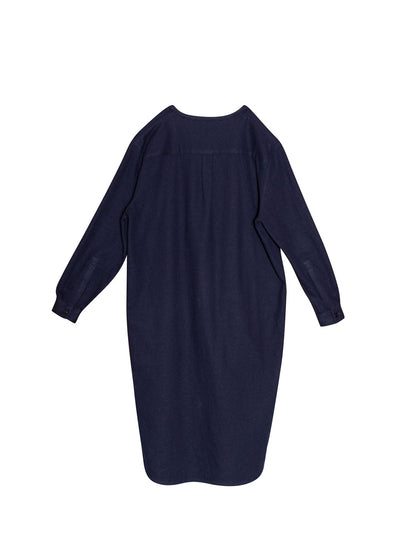Navy Cotton Imogen Dress
