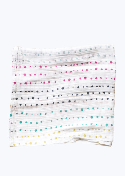 Multi Color Painted Dots Swaddle