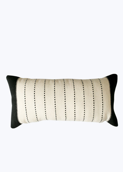 Small Natural/Black Cushion