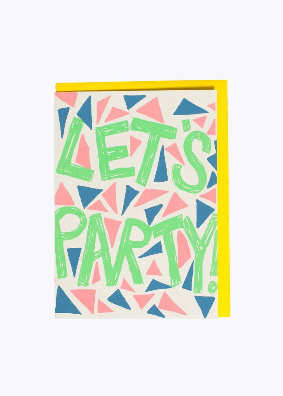 Let's Party Triangles Card