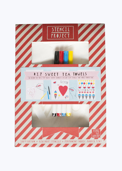 Sweet Stencil Tea Towel Kit