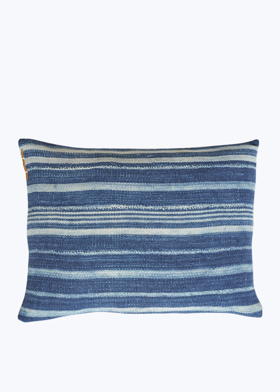 Blue/White Allover Stripe Pillow