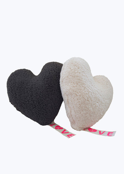 Gray Love Fleece Pillow-Small