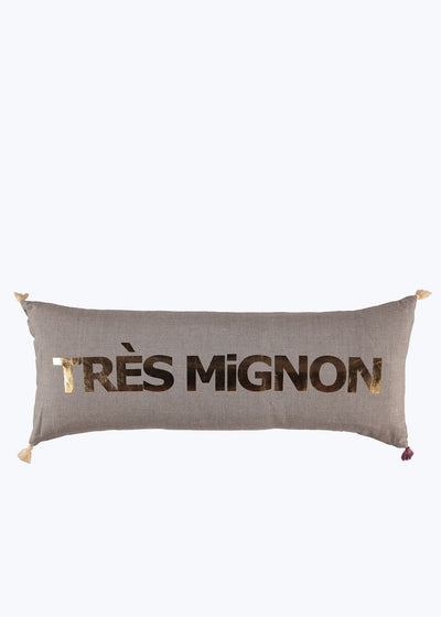 Tres Mignon Double Cushion - Coconut/Gold Foil