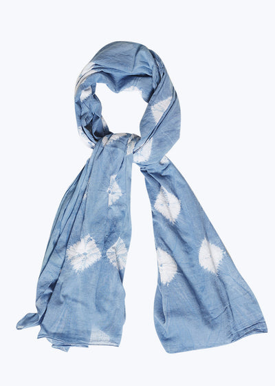 Light Indigo Diamonds Dupatta Scarf
