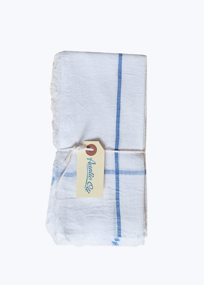 6 White Khadi Napkin Set