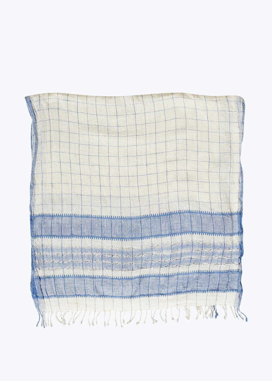 Natural Windowpane Scarf
