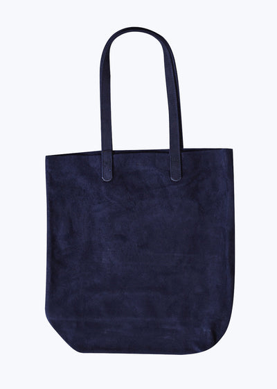 Midnight Suede Leather Basic Tote