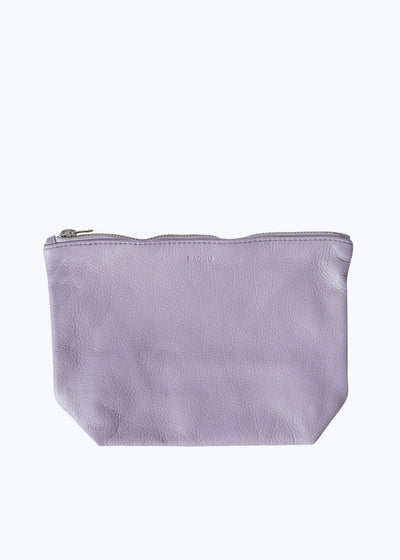 Lavender Leather Medium Stash Clutch