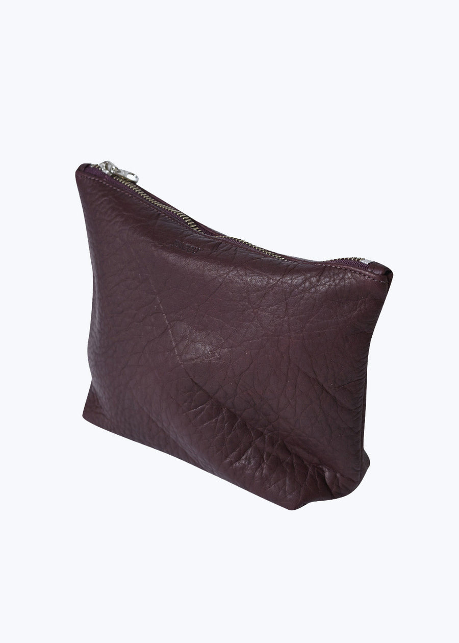 Oxblood Leather Medium Stash Clutch
