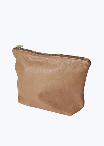 Saddle Leather Medium Stash Clutch