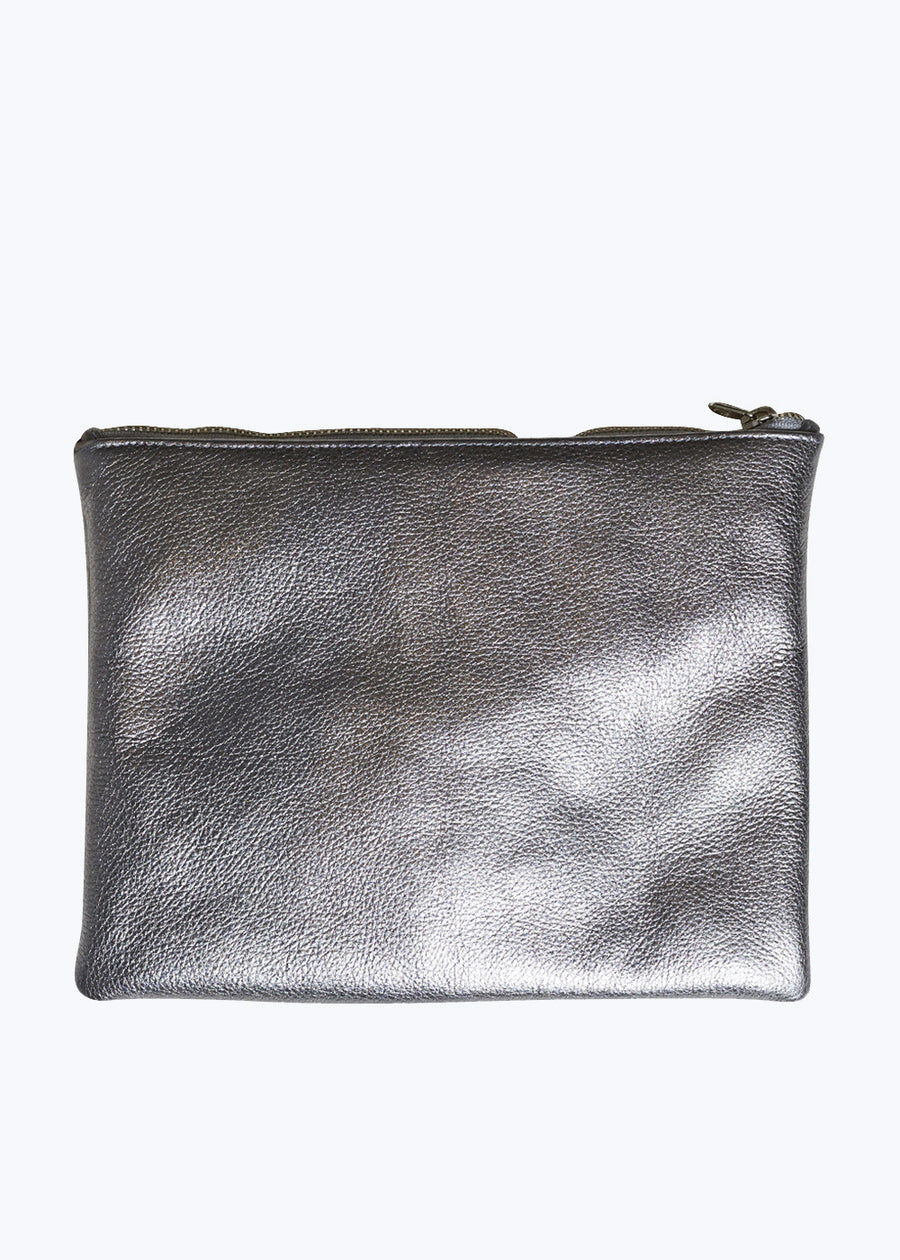 Mineral Leather Medium Flat Pouch