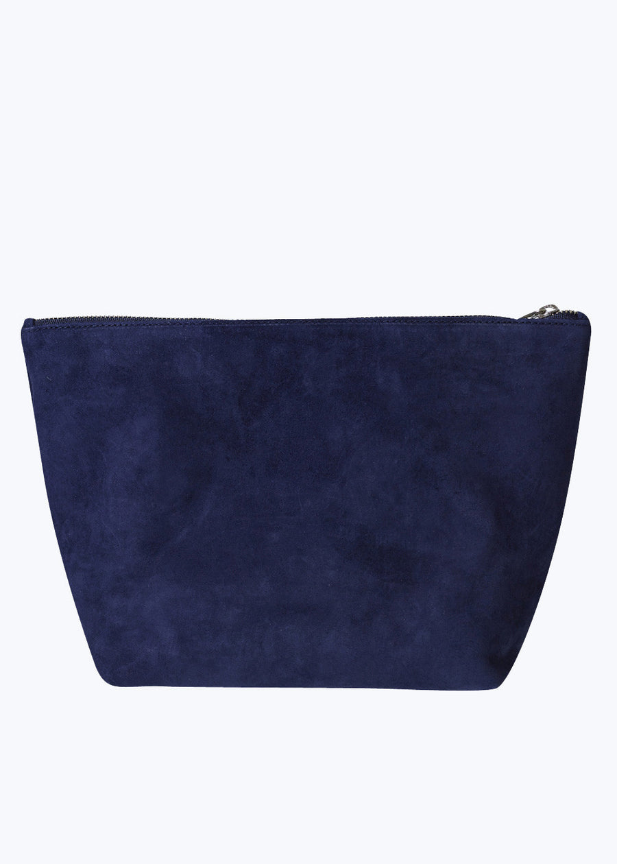 Midnight Suede Large Stash Clutch