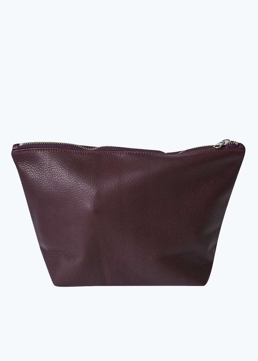 Oxblood Leather Large Stash Clutch