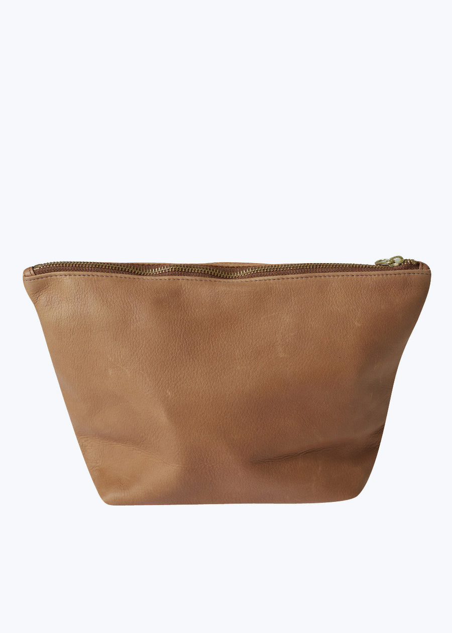 Saddle Leather Large Stash Clutch
