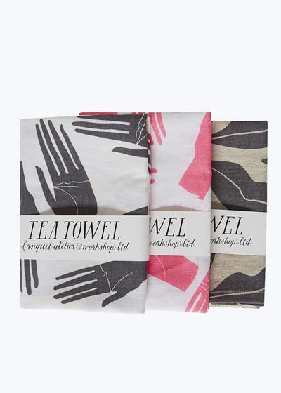 Gray Hands Tea Towel