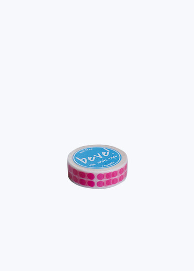 Neon Pink Double Dot Washi Tape