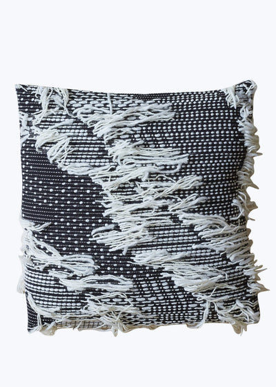 Textured Fringe Pillow