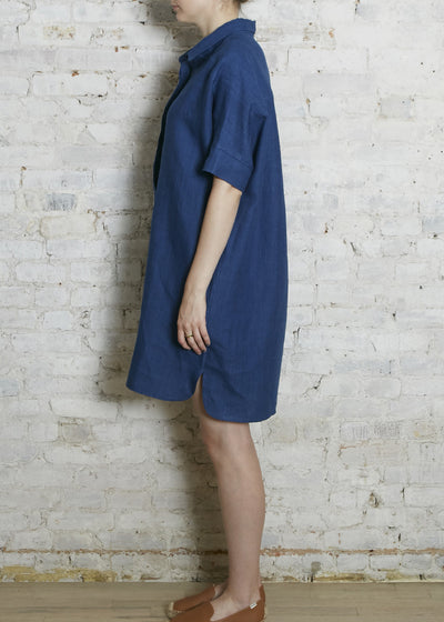 Indigo Tunic Shirt Dress